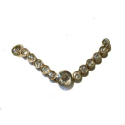 Elément de collier en or jaune 18K (750)...