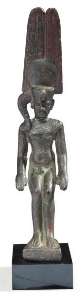 Statuette votive représentant le dieu Harpocrate...