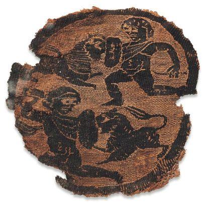 Orbiculum orné de deux gladiateurs combattant...
