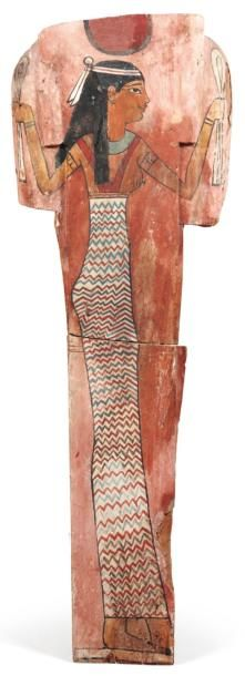 Panneau de sarcophage peint de la déesse...