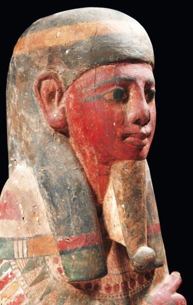 Ptah-Sokar-Osiris. Exceptionnelle statue représentant le dieu Ptah-Sokar-Osiris....