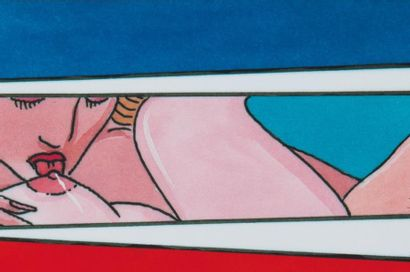 PABLO ECHAURREN (1951) Living Sculpture, Kubofuturismo, 1986 Crayon, huile sur toile,...
