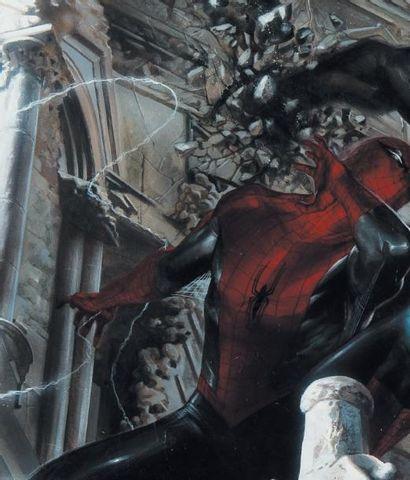 GABRIELE DELL'OTTO (1973) Spider Man, Venom, couverture pour l'exposition de Paris,...