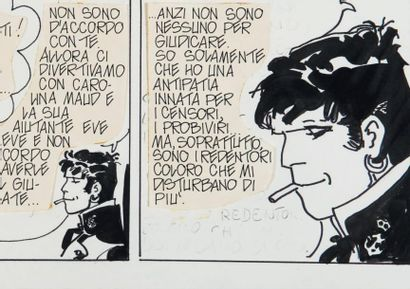 HUGO PRATT (1927-1995) Corto Maltese, Tango n. 3, première édition premier Albatros,...