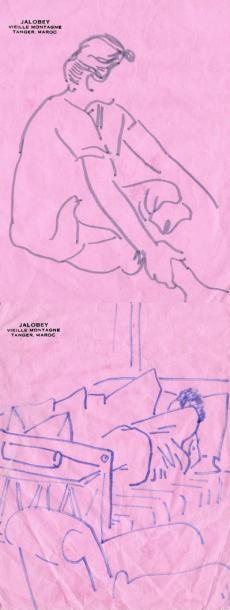 Marie MURACCIOLE Tangier 1992/2010 Montage de dessins et photographies H_45 cm L_42...