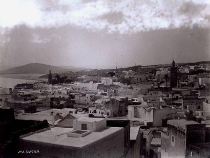 J.P Tanger, vue générale, 1890-1900 Tirage de l'époque sur papier au gélatino-chlorure...