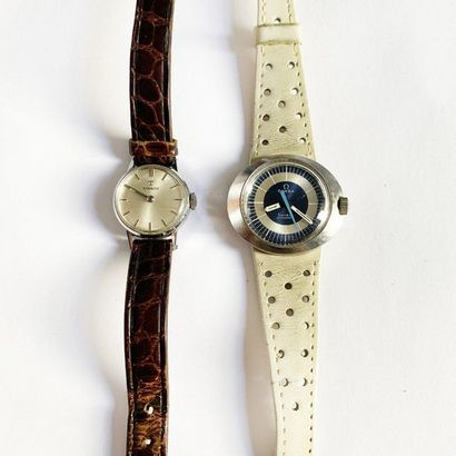 Lot de deux montres en acier dont une Tissot...