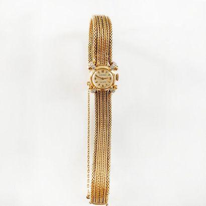 Movado, montre de dame en or jaune 18K (750),...