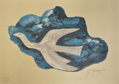 Georges BRAQUE (1882 - 1963) La colombe  Lithographie en couleur sur papier signée...