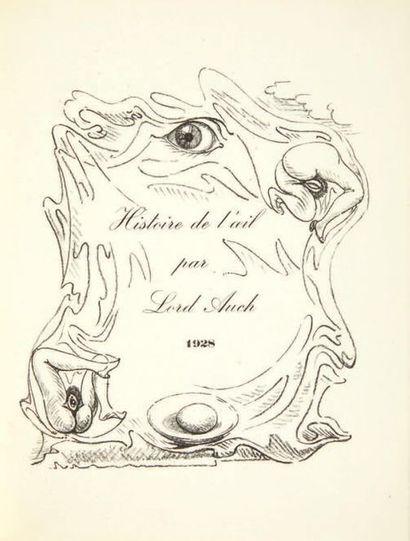 [Georges BATAILLE, sous le pseudonyme de] Lord AUCH.