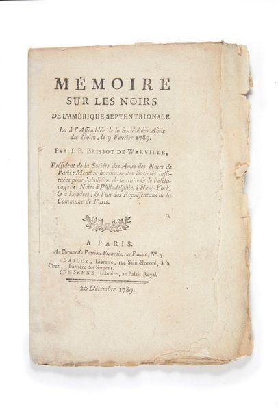 BRISSOT DE WARVILLE, Jacques-Pierre.