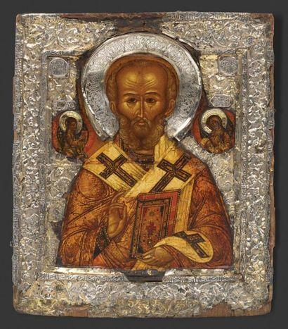 ICÔNE Saint Nicolas de Myre Tempera sur panneau...