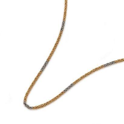 LONG COLLIER en or jaune et gris 18K (750)...