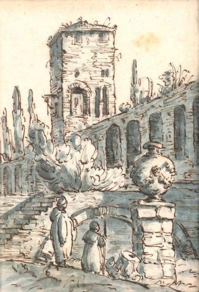 ÉCOLE VÉNITIENNE, SUIVEUR D'ANTONIO CANAL, DIT CANALETTO (1697-1768)