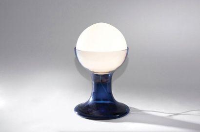 CARLO NASON (NÉ EN 1936) Lampe modèle «LT 216» Verre de Murano teinté Édition Mazzega...