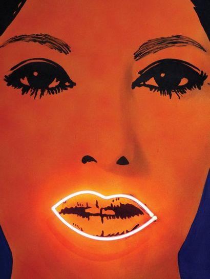 ELAINE STURTEVANT (1926-2014) Raysse Peinture à Haute Tension, 1968-1969 Flocage,...