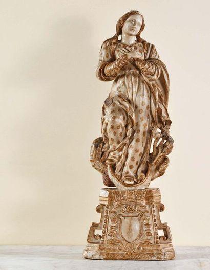 Grande Vierge de l'Apocalypse en albâtre...