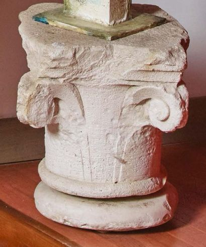 Antico capitello in pietra d'Istria (danni...