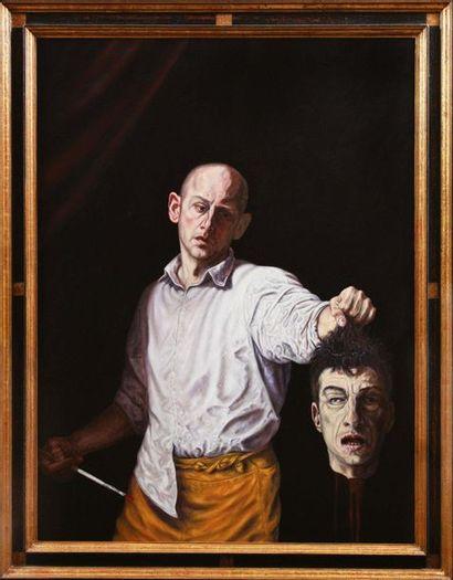DAVID DALLA VENEZIA (CANNES 1965) Who Killed Cattelan, 2007 Olio su tela Firmato,...