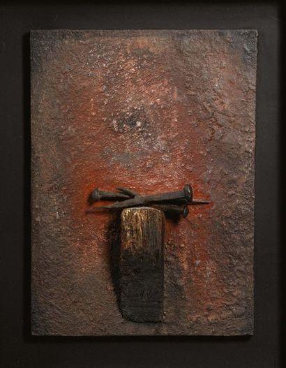 FERRUCCIO BORTOLUZZI (VENEZIA 1920 - 2007) Senza titolo, 1973 Legno e chiodi di ferro...