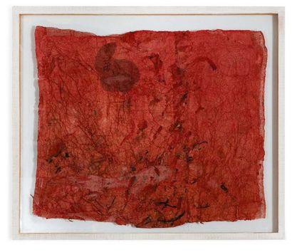 ANNA MORO LIN (VENEZIA 1929) Arazzo piccolo Tessuti, garze e carta Fabrics, gauze...