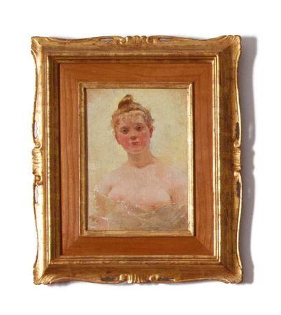 ATTRIBUITO A CHARLES CHAPLIN (ANDELYS 1825 - PARIS 1891) Ritratto di giovane donna...