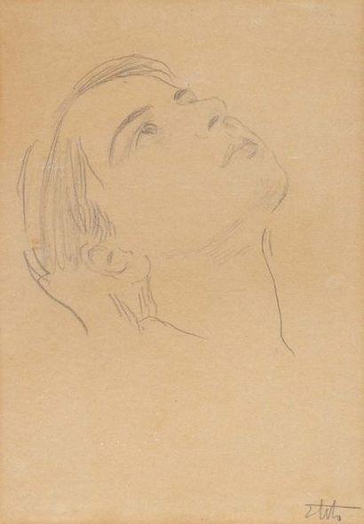 Ettore Tito (Castellammare di Stabia 1859 - Venezia 1941) Presunto ritratto di una...