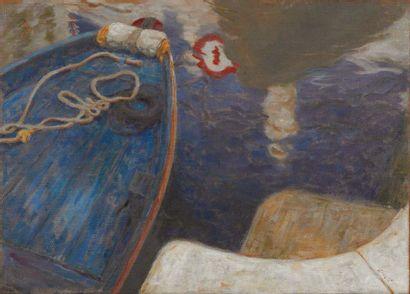 PAOLO SMALI (BELLUNO 1969) Venezia, punta e segnale Olio su tela applicata su tavola...
