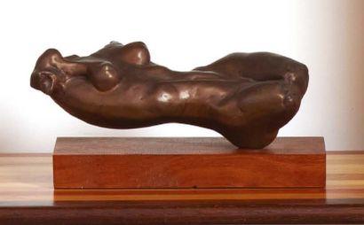 LALLA MALVEZZI (VENEZIA XX/XXI SECOLO) Busto femminile disteso Bronzo. Firmato e...