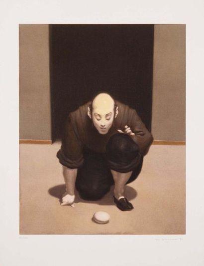 WAINER VACCARI (MODENA 1949) Senza titolo Serigrafia a colori, firmata a matita dall'artista,...