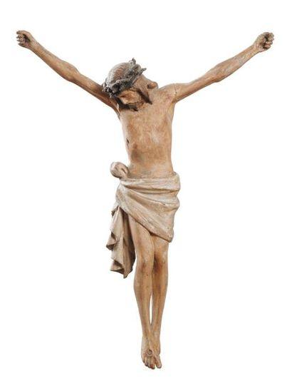 Cristo in legno scolpito e policromo Fine del XVIII secolo Christ en bois sculpté...