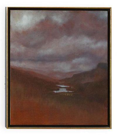DAVID DALLA VENEZIA (CANNES 1965) Paesaggio norvegese (Eggedal) Olio su tela. Firmato,...