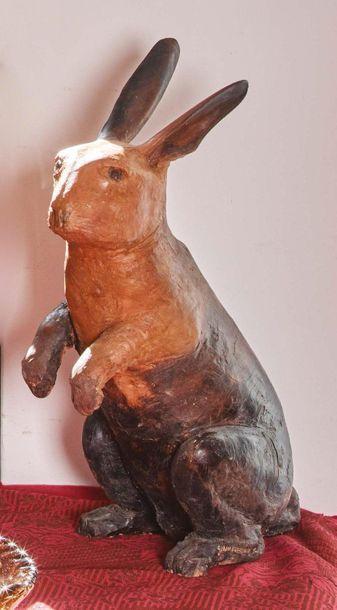 ANTONIO GIANCATERINO (PENNE 1950) Un coniglio Terracotta dipinta Firmato e datato...