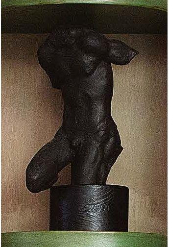ETTORE GRECO (PADOVA 1969) Busto maschile Terracotta patinata (fenditure) Buste masculin...