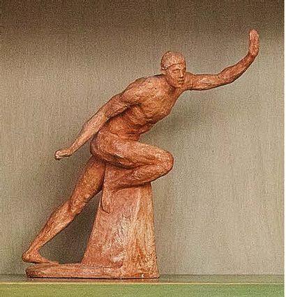 ETTORE GRECO (PADOVA 1969) Piccolo Atleta in movimento Terracotta (le braccia restaurate)....