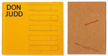 Ensemble de trois ouvrages: JUDD, DON (1928-1994)...