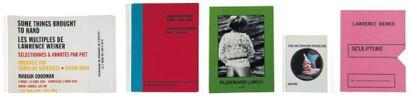 Ensemble de cinq ouvrages: BALDESSARI, JOHN (1931) ET WEINER, LAWRENCE (1942) The...