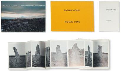 Ensemble de huit publications: LONG, RICHARD (1945) A Walk Past Standing Stones....