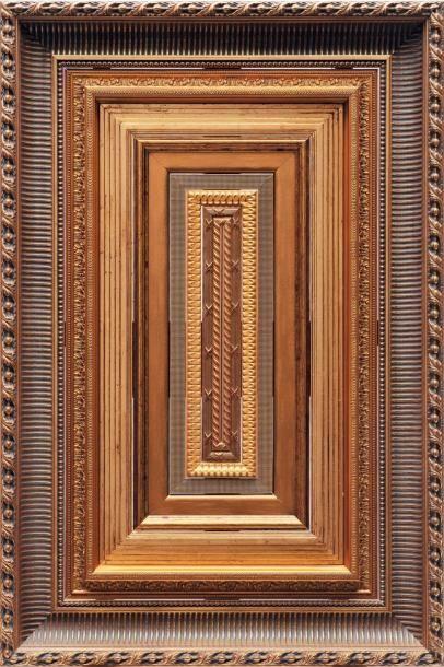 Kolkoz (né en 1972 et né en 1973) Untitled Assemblage de cadres en bois doré. H_122...