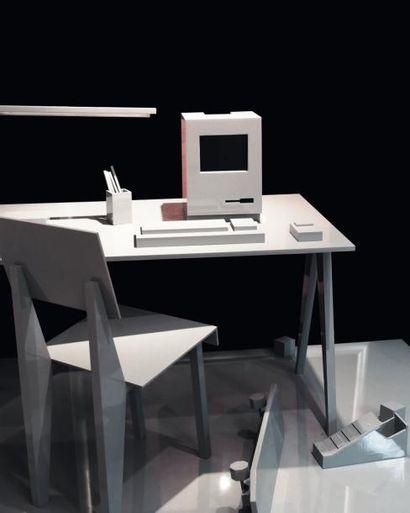KOLKOZ (NÉ EN 1972 ET NÉ EN 1973) Untitled Pièce unique. Sculpture figurant une table...