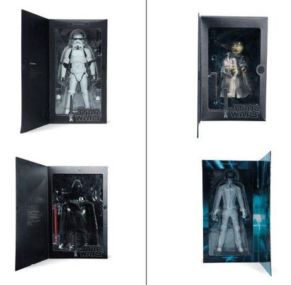 STAR WARS Ensemble de quatre boîtes comprenant les figurines des héros de Star Wars....