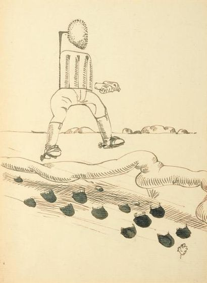 AUGUSTE MAMBOUR (1896-1968) Sans titre Encre sur papier. Signée en bas à droite....