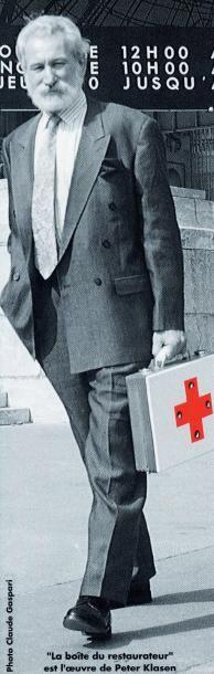 PETER KLASEN (NÉ EN 1935) La boîte du restaurateur, 1989 Boîte de peinture comprenant...
