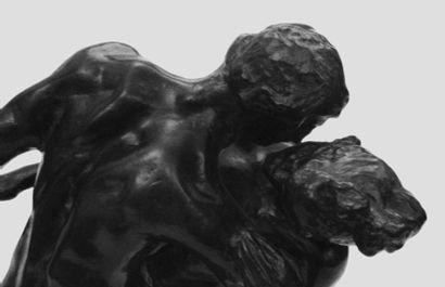 CAMILLE CLAUDEL (1864-1943) La valse, 1895 Epreuve en bronze à patine brun vert....