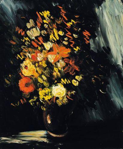 MAURICE DE VLAMINCK (1876-1958) Vase aux fleurs jaunes Huile sur toile. Signée en...