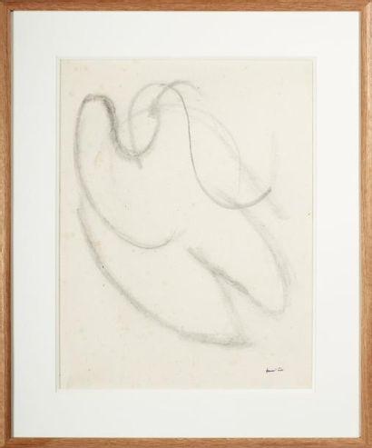JEAN FAUTRIER (1898-1964) Nu couché, circa 1942 Dessin au crayon sur papier. Cachet...