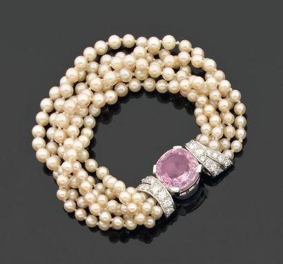 BRACELET torsade de perles de culture de...