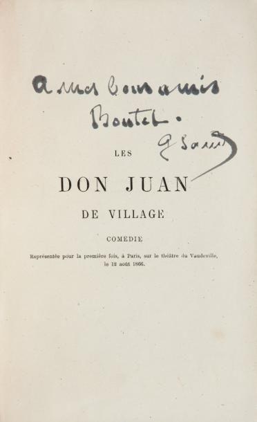 SAND George (1804-1876) Femme de lettres française, amie de Chopin. Dédicace autographe...