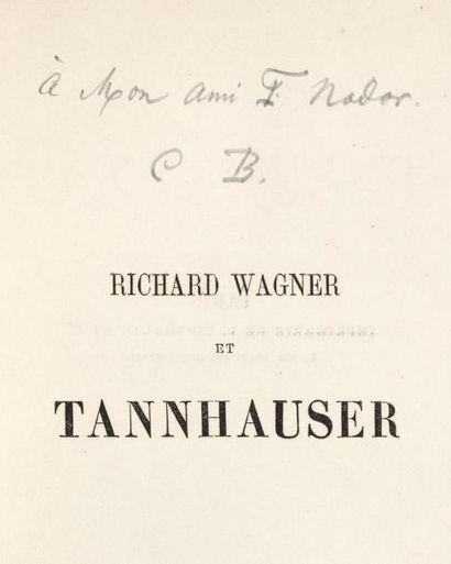 BAUDELAIRE Charles (1821-1867) Poète français. Dédicace autographe signée à Félix...