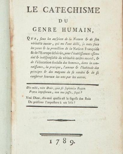 BOISSEL François (1728-1807) Philosophe et écrivain, précurseur du communisme selon...